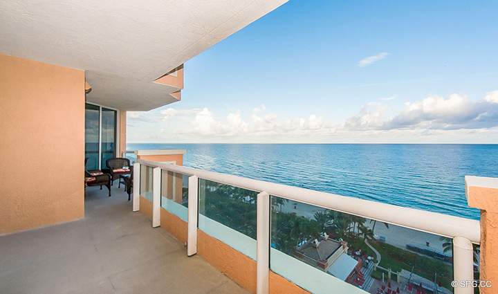 Oceanfront Terrace at Residence 1106 at Acqualina, Luxury Oceanfront Condominiums in Sunny Isles Beach, Florida 33160