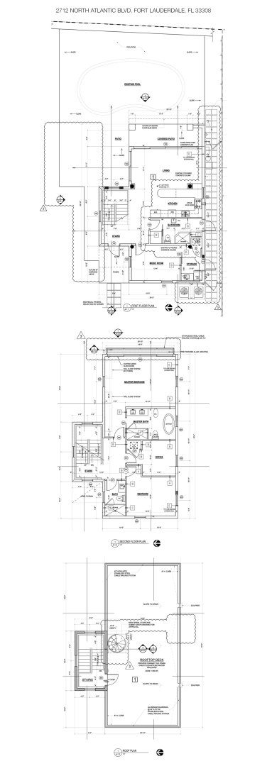 Floorplan for Luxury Oceanfront Home, 2712 North Atlantic Boulevard, Fort Lauderdale, Florida 33308