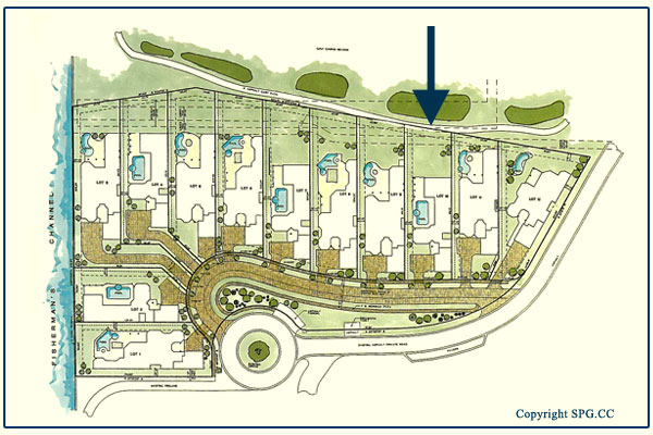 Site plan for Floorplan for 6919 Valencia Drive, Fisher Island, Florida 33109
