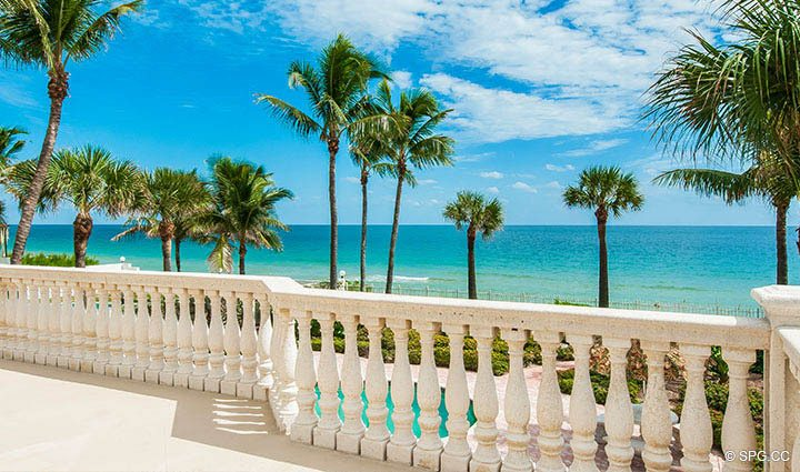 Direct Ocean View from Luxury Estate Home, 2618 North Atlantic Boulevard, Fort Lauderdale, Florida 33308