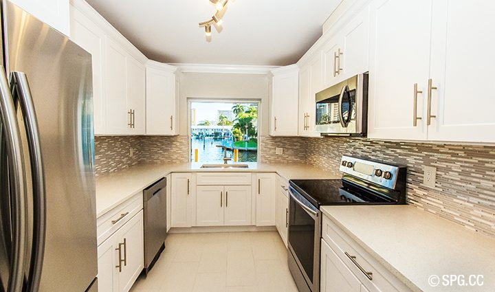 Kitchen Residence 3210 NE 38th St. For Sale, Luxury Waterfront Home Fort Lauderdale, Florida 33308