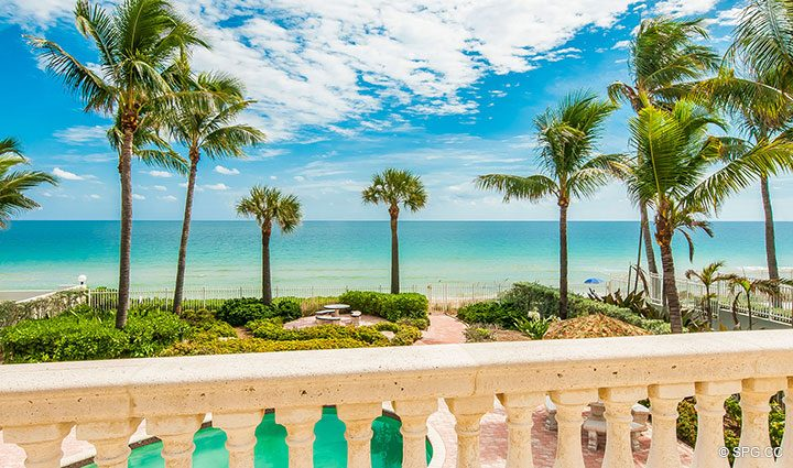 Terrace Ocean View from Luxury Estate Home, 2618 North Atlantic Boulevard, Fort Lauderdale, Florida 33308