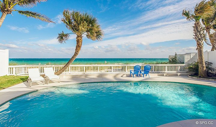 Beachfront Pool for Luxury Oceanfront Home, 2712 North Atlantic Boulevard, Fort Lauderdale, Florida 33308