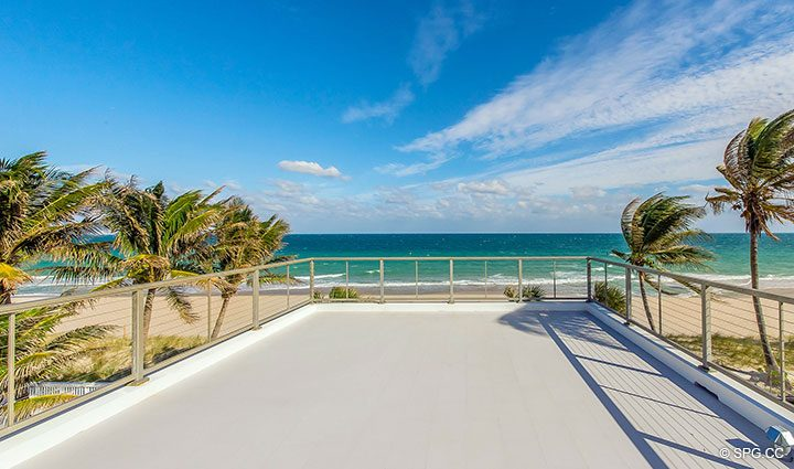 Expansive Roof Terrace for Luxury Oceanfront Home, 2712 North Atlantic Boulevard, Fort Lauderdale, Florida 33308