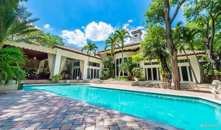 Majestic Pool Area at Luxury Estate Home, 16260 Bridlewood Circle, Delray Beach, Florida 33445