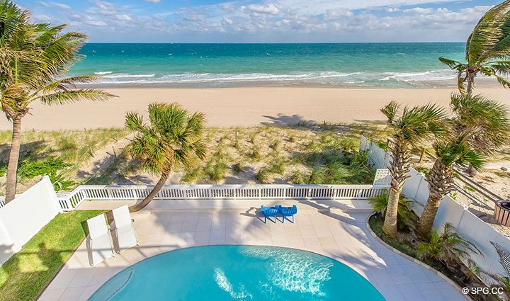 Views from Root Terrace from Luxury Oceanfront Home, 2712 North Atlantic Boulevard, Fort Lauderdale, Florida 33308