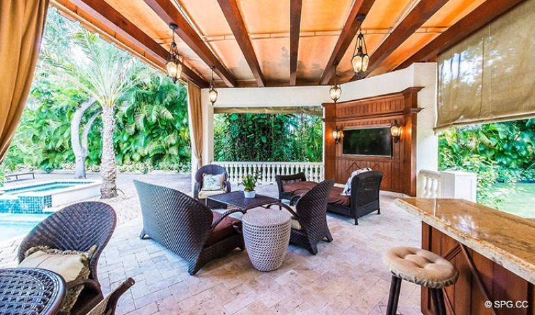 Covered Patio at Luxury Estate Home, 16260 Bridlewood Circle, Delray Beach, Florida 33445