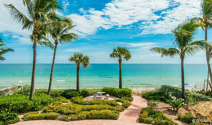 Oceanfront Garden at Luxury Estate Home, 2618 North Atlantic Boulevard, Fort Lauderdale, Florida 33308