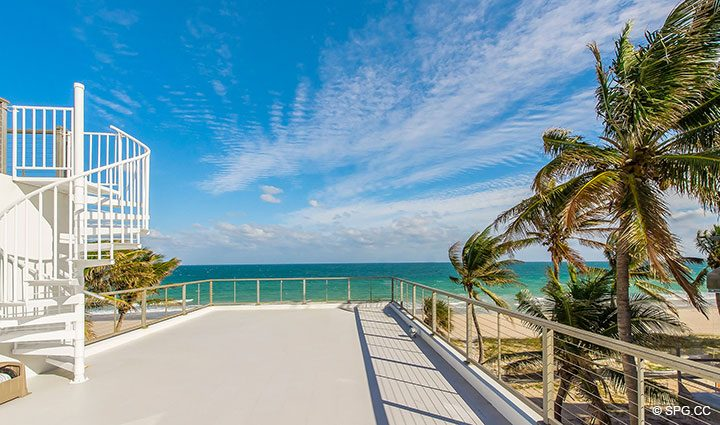 Roof Terrace with Observation Deck at Luxury Oceanfront Home, 2712 North Atlantic Boulevard, Fort Lauderdale, Florida 33308