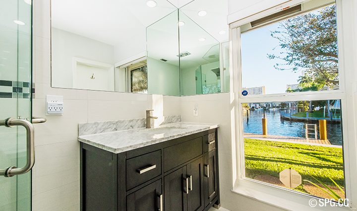 Bathroom Residence 3210 NE 38th St. For Sale, Luxury Waterfront Home Fort Lauderdale, Florida 33308