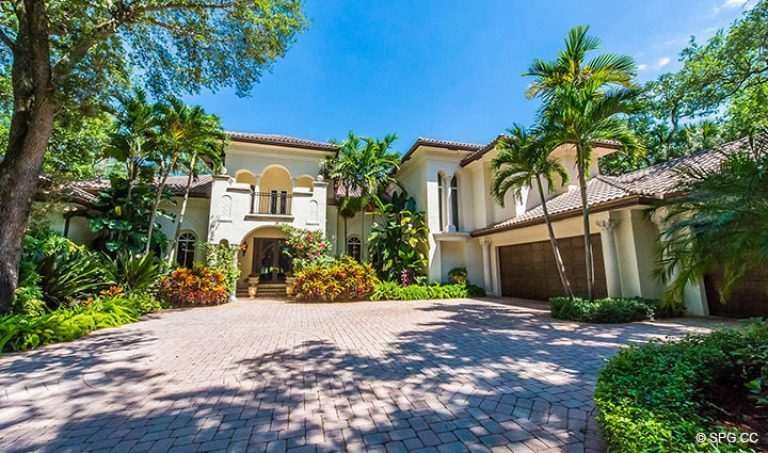 Driveway Leading to Luxury Estate Home, 16260 Bridlewood Circle, Delray Beach, Florida 33445