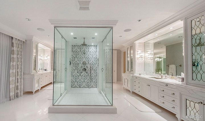 Spectacular Master Bath in Estate Home 709 Idlewyld Drive, Fort Lauderdale, Florida 33301