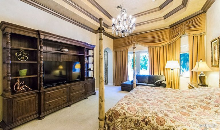 Maser Bedroom in Luxury Estate Home, 16260 Bridlewood Circle, Delray Beach, Florida 33445