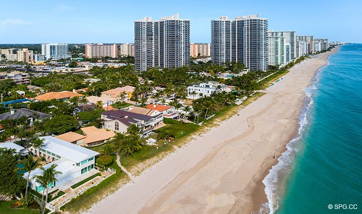 Aerial View from Luxury Oceanfront Home, 3036 North Atlantic Boulevard, Fort Lauderdale, Florida 33308