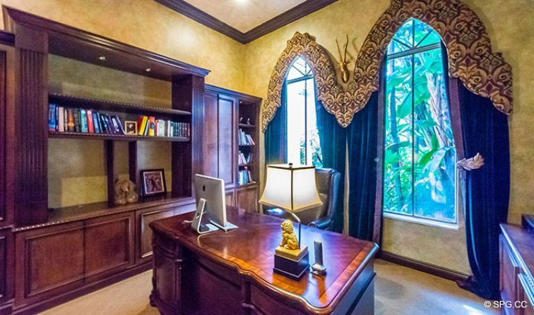 Office inside Luxury Estate Home, 16260 Bridlewood Circle, Delray Beach, Florida 33445