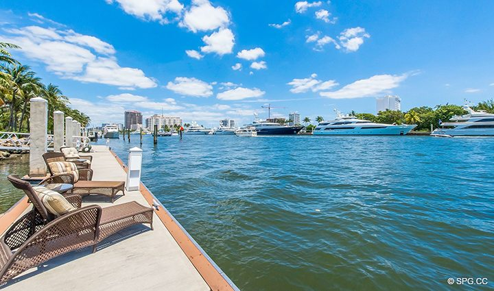 Private Dock for Estate Home 709 Idlewyld Drive, Fort Lauderdale, Florida 33301