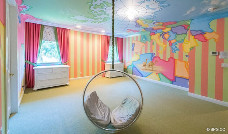 Baby's Room inside Luxury Estate Home, 16260 Bridlewood Circle, Delray Beach, Florida 33445