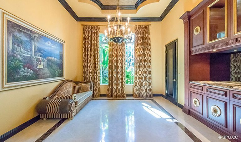 Sitting Room in Luxury Estate Home, 16260 Bridlewood Circle, Delray Beach, Florida 33445