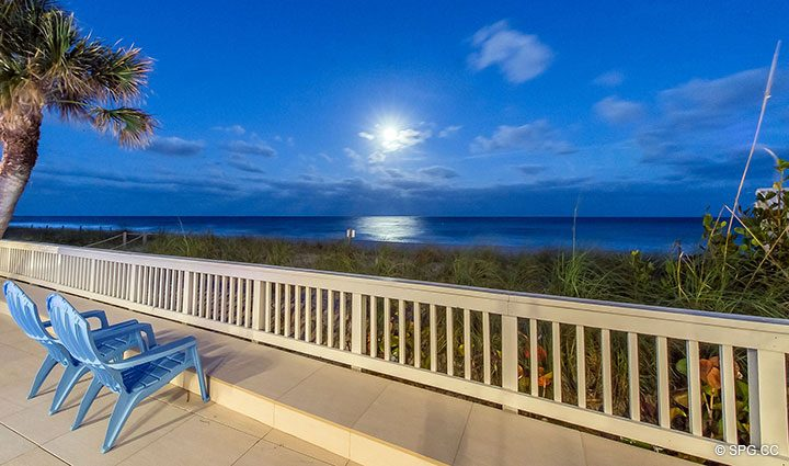 Evening Beach Views from Luxury Oceanfront Home, 2712 North Atlantic Boulevard, Fort Lauderdale, Florida 33308