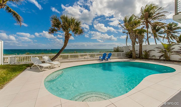 Beachfront Pool Deck at Luxury Oceanfrontate Home, 2712 North Atlantic Boulevard, Fort Lauderdale, Florida 33308