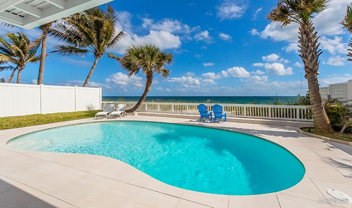 Pool Deck at Luxury Oceanfront Home, 2712 North Atlantic Boulevard, Fort Lauderdale, Florida 33308