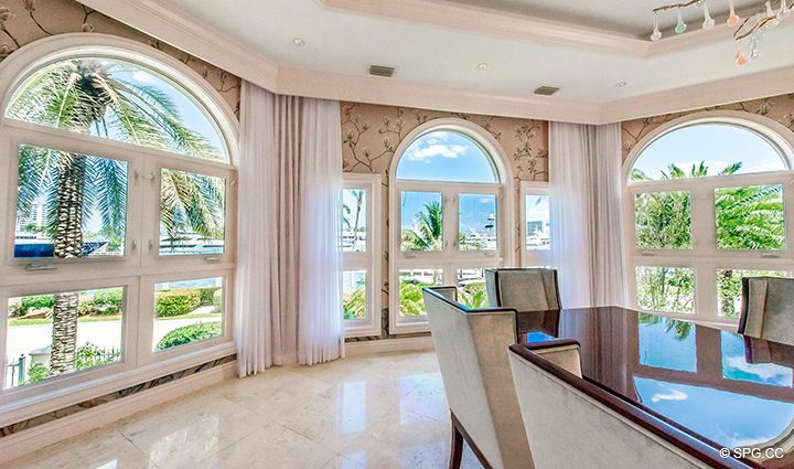 Dining Room Views in Estate Home 709 Idlewyld Drive, Fort Lauderdale, Florida 33301