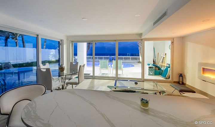 Evenings in Luxury Oceanfront Home, 2712 North Atlantic Boulevard, Fort Lauderdale, Florida 33308