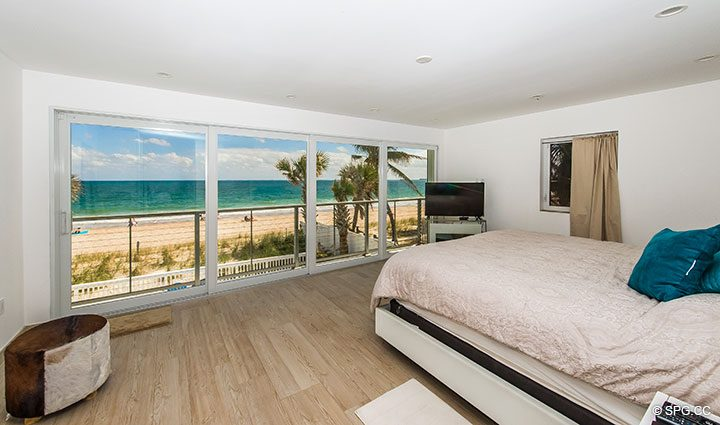 Master Bedroom inside Luxury Oceanfront Home, 2712 North Atlantic Boulevard, Fort Lauderdale, Florida 33308