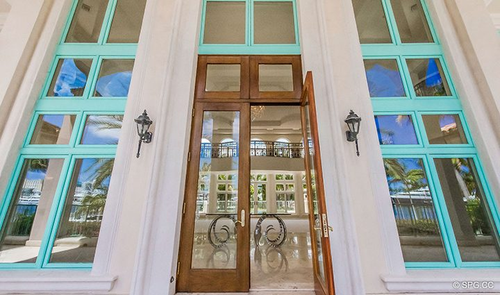 Entrance into Estate Home 709 Idlewyld Drive, Fort Lauderdale, Florida 33301