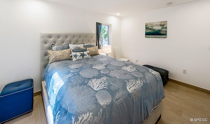 Guest Bedroom in Luxury Oceanfront Home, 2712 North Atlantic Boulevard, Fort Lauderdale, Florida 33308