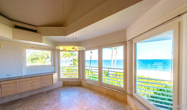 Dining View from Luxury Oceanfront Home, 3036 North Atlantic Boulevard, Fort Lauderdale, Florida 33308