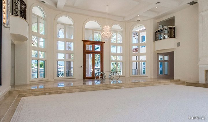 Grand Living Room inside Estate Home 709 Idlewyld Drive, Fort Lauderdale, Florida 33301