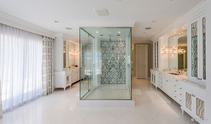 Master Bath inside Estate Home 709 Idlewyld Drive, Fort Lauderdale, Florida 33301