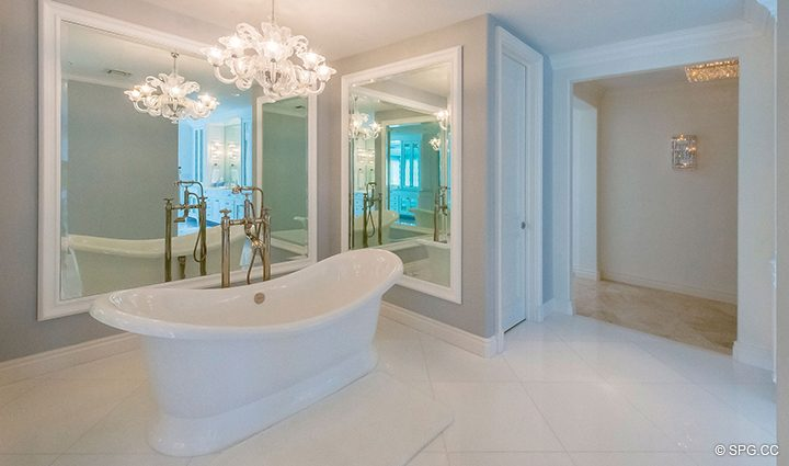 Relaxing Master Bath inside Estate Home 709 Idlewyld Drive, Fort Lauderdale, Florida 33301