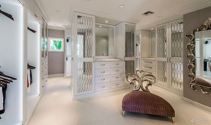 Master Wardrobe inside Estate Home 709 Idlewyld Drive, Fort Lauderdale, Florida 33301