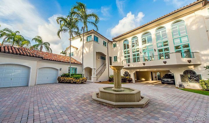 Resort Style Piazza at Estate Home 709 Idlewyld Drive, Fort Lauderdale, Florida 33301