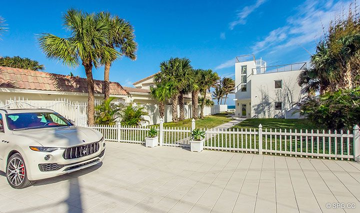 Private Parking Area for Luxury Oceanfront Home, 2712 North Atlantic Boulevard, Fort Lauderdale, Florida 33308