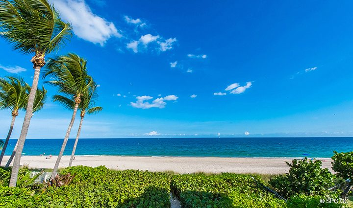 Beach View from Luxury Oceanfront Home, 3036 North Atlantic Boulevard, Fort Lauderdale, Florida 33308