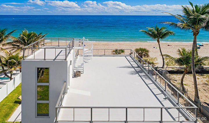 Aerial View of Roof Deck at 2712 North Atlantic Boulevard, Fort Lauderdale, Florida 33308