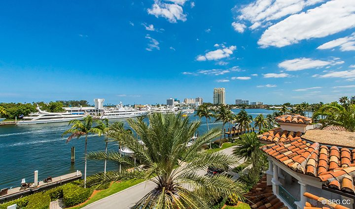 Roof Terrace Views from Estate Home 709 Idlewyld Drive, Fort Lauderdale, Florida 33301