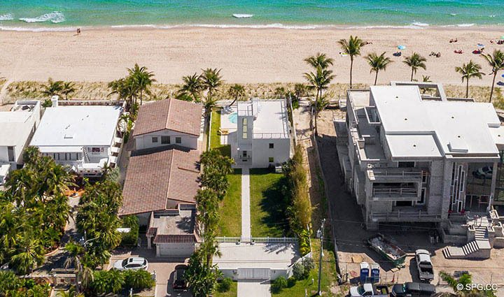 Overhead Aerial View of 2712 North Atlantic Boulevard, Fort Lauderdale, Florida 33308