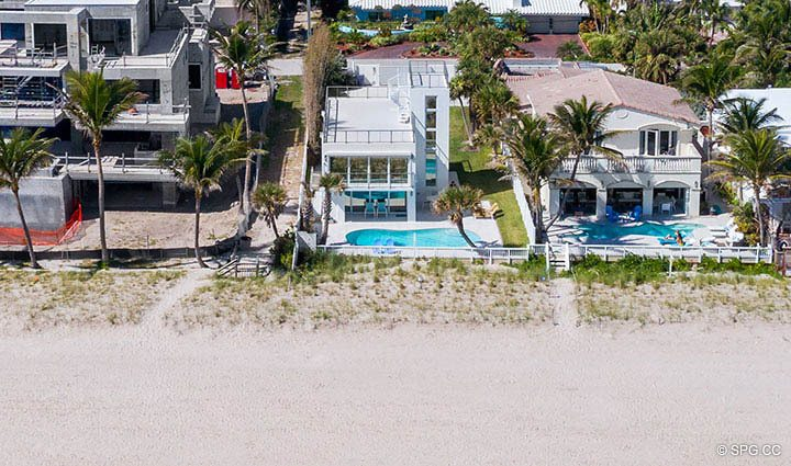 Aerial Beach View of 2712 North Atlantic Boulevard, Fort Lauderdale, Florida 33308