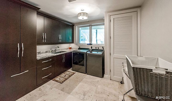 Laundry Room in Estate Home 709 Idlewyld Drive, Fort Lauderdale, Florida 33301