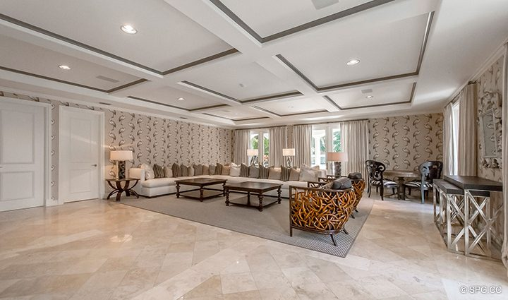 Den inside Estate Home 709 Idlewyld Drive, Fort Lauderdale, Florida 33301
