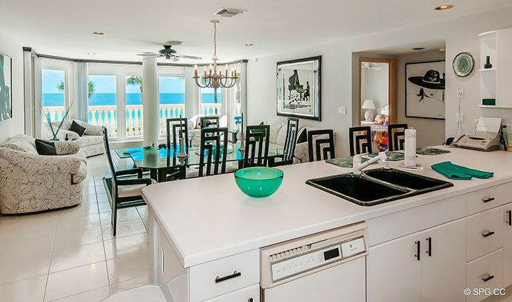 View from Second Floor Kitchen in Luxury Estate Home, 2618 North Atlantic Boulevard, Fort Lauderdale, Florida 33308