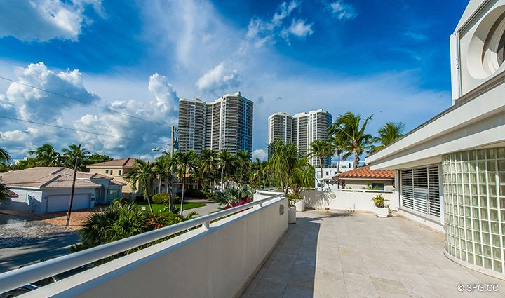 Estate View from Luxury Oceanfront Home, 3036 North Atlantic Boulevard, Fort Lauderdale, Florida 33308