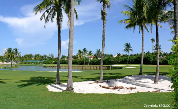 Golf Course at Luxury oceanfront residence 6919 Valencia Drive, Fisher Island, Florida 33109