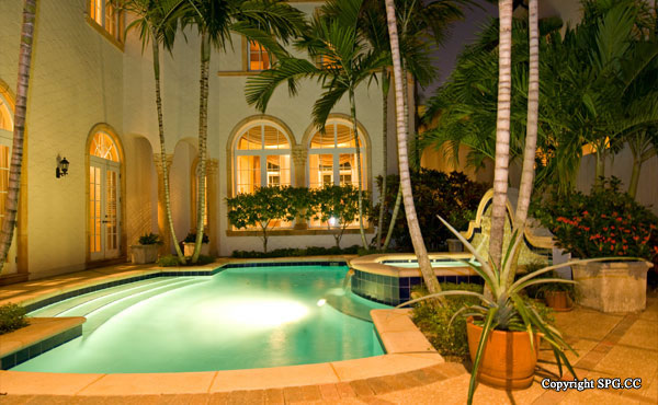 Pool Deck at Luxury oceanfront residence 6919 Valencia Drive, Fisher Island, Florida 33109, Miami Beach