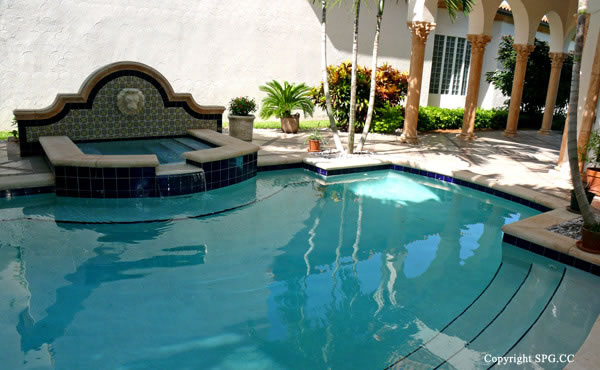 Pool at Luxury oceanfront residence 6919 Valencia Drive, Fisher Island, Florida 33109