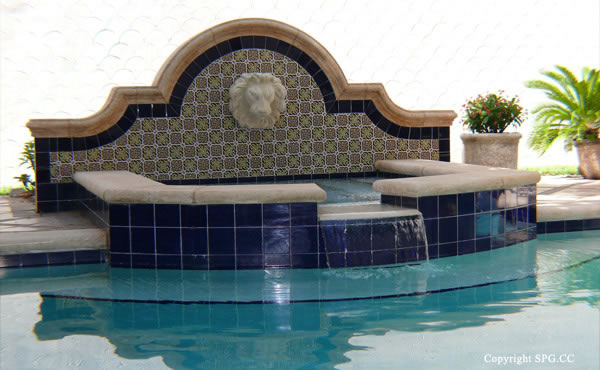 Jacuzzi at Luxury oceanfront residence 6919 Valencia Drive, Fisher Island, Florida 33109